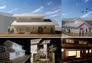 町屋 河京富月 模型